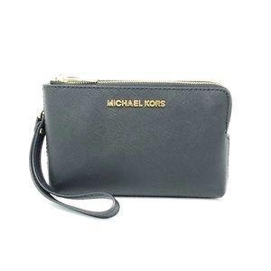 Michael Kors Black Double Zip Wristlet